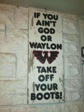 Waylon Jennings.  Love this.