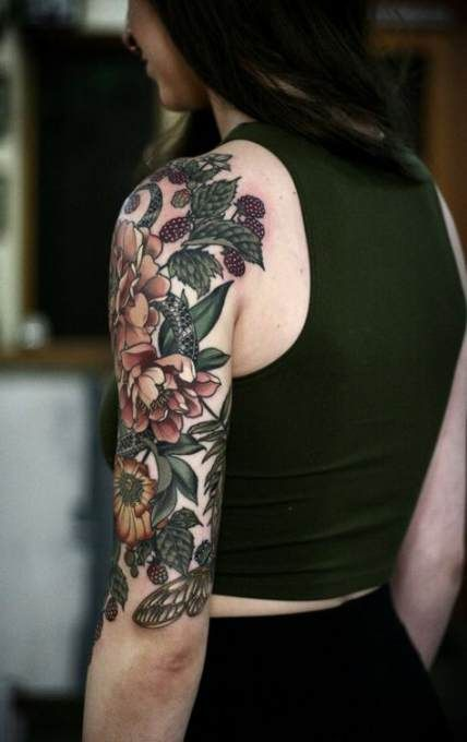 Tattoo Sleeve Women Traditional Style 39 Ideas Nature Tattoo Sleeve Tattoos For Women Half Sleeve Floral Tattoo Sleeve