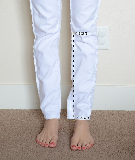 This website has tips and tutorials for altering all kinds of clothes from pants to polos.
