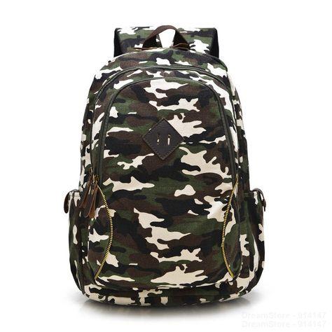 Camouflage Backpack Men Women Unisex Knapsack Travel Fashion Casual Schoolbag