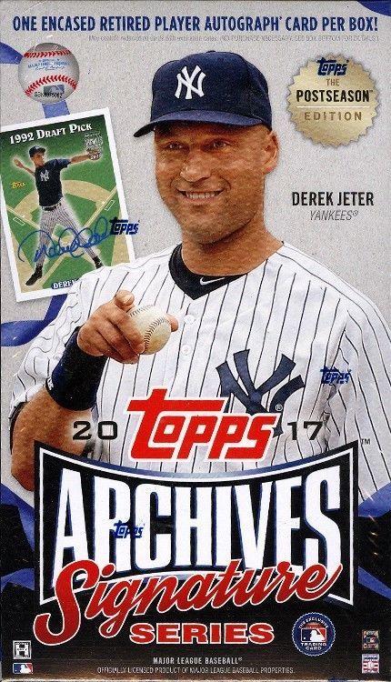 2017 Topps Archives Signature Postseason Ed Baseball 20 Box
