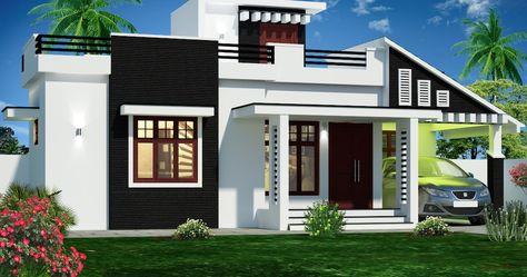 900 Sq Feet Kerala House Plans 3d Front Elevation In 2020 Kerala House Design Bungalow House Design Latest House Designs