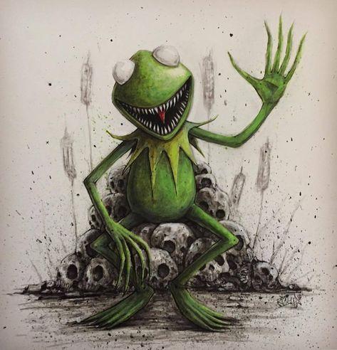 """""""Muppet/Horror Mashup:  Kermit  by Ricky Romero @mrrevenge """""""