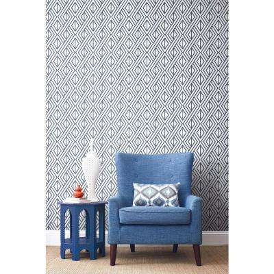 Navy Diamond Geometric Peel And Stick Wallpaper Peel And Stick Wallpaper Decor Home Decor