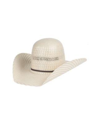 Stone Pro Bull Two Tone Straw Hat   Horse Hair Hatband - VaqueroBoots.com  02d4e599c83