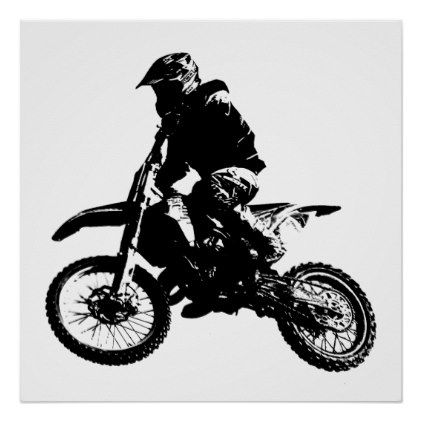 Black White Pop Art Motocross Motorcyle Sport Poster Office Decor Custom Cyo Diy Creative With Images Retro Poster Pop Art Sport Poster