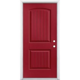 Masonite 36 In X 80 In Fiberglass Left Hand Inswing Roma Red Painted Prehung Single Front Door Brickmould Included Lowes Com Entry Doors Easy Install Doors Red Paint Horner millwork and masonite are your. pinterest
