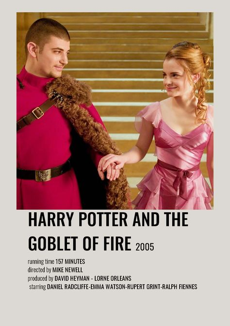 Harry Potter and the Goblet of Fire minimalist polaroid movie poster