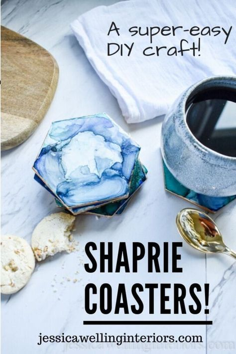 Easy DIY Coasters with Sharpies and Alcohol!