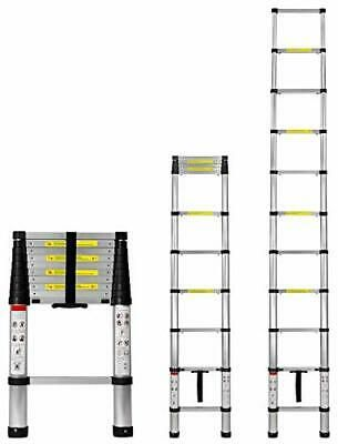 Work It Extension Ladder 10 5 Ft Aluminum Collapsible Telescoping Ladder Wi In 2020 Ladder Multi Purpose Ladder Aluminum Extension