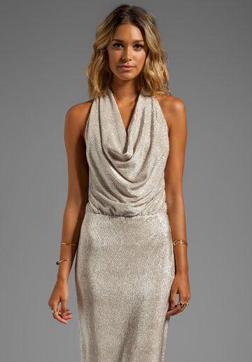 Shop for Black Halo Selena Maxi Dress in Gold at REVOLVE.