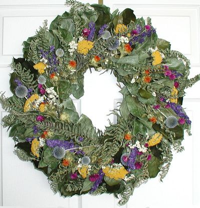 Meadow Sunrise Floral Wreath 22 In Dried Flower Wreaths Floral Wreath Dried Flowers