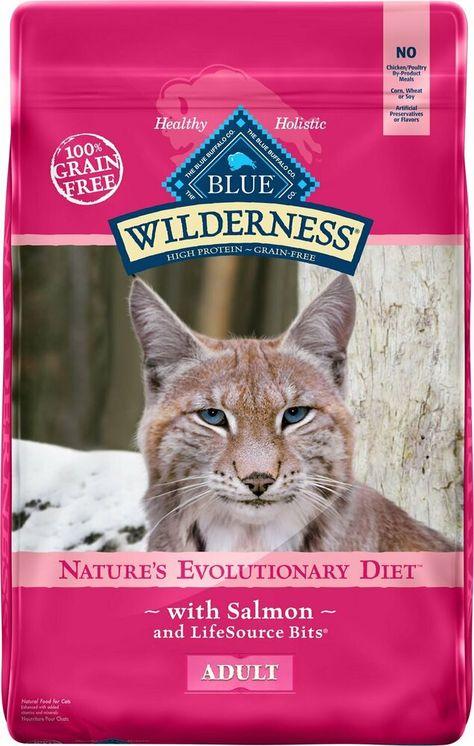 Blue Buffalo Wilderness Salmon Recipe Grain Free Dry Cat