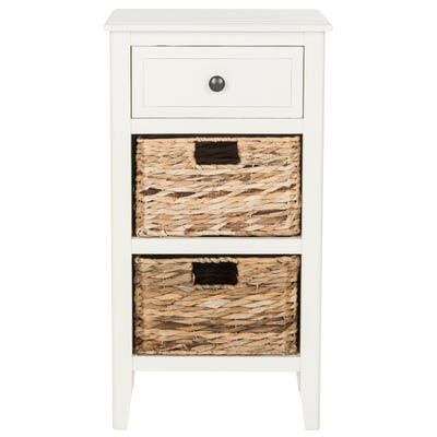 White Nolan Drawer Side Table In 2020 Side Table With Drawer End Tables End Tables With Storage