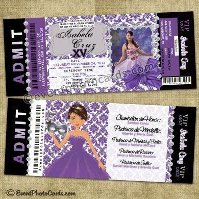 Quinceanera Invitations & Styles on Pinterest | Sweet ...