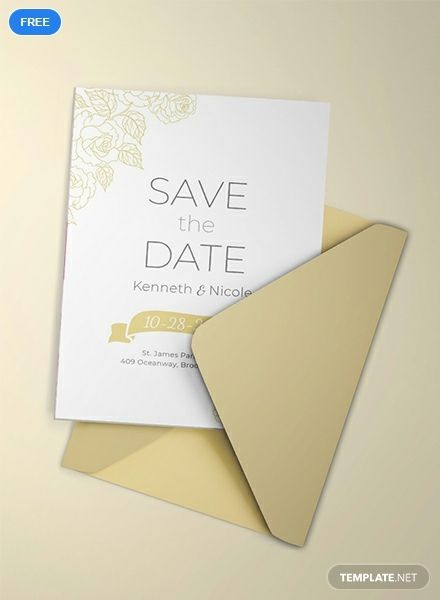 Free Save the Date Wedding Invitation | Wedding Invitation ...
