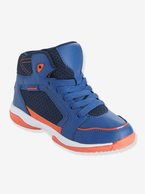 92abab58ce94 Baskets montantes sport pour le basket bleu/orange - Pour le style et le  confort, ces baskets montantes, conçues avec le podologue, Monsieur  Basuyaux sont ...