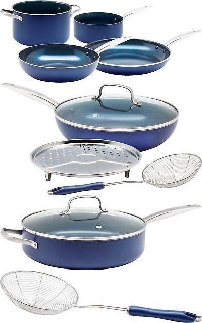 Cookware 20628 Blue Diamond 4 Piece Ceramic Non Stick Cookware
