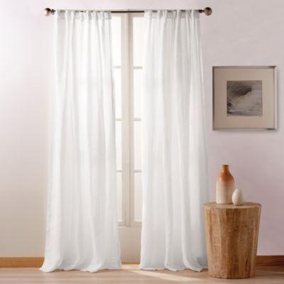 Pure City Linen 108 X 50 Window Panel Pair Rod Pocket Curtain