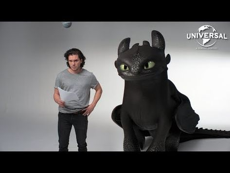 HOW TO TRAIN YOUR DRAGON: THE HIDDEN WORLD | Kit Harington and Toothless' Lost Audition Tapes - YouTube