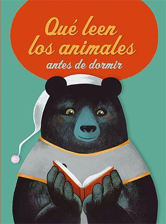 A los animales también les gusta leer antes de dormir... Pero cada uno tiene sus pequeñas costumbres: el canguro solo lee libros de bolsillo, los murciélagos se ríen con las historias de vampiros, los caballos prefieren los diarios de carreras...
