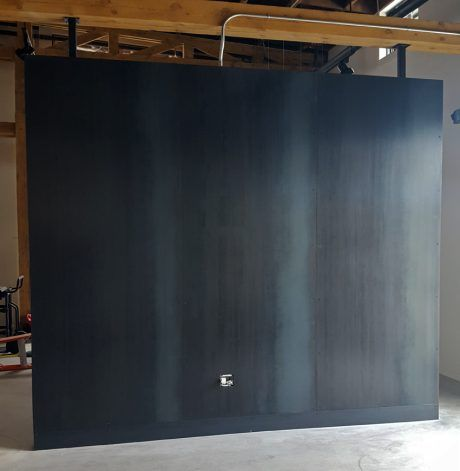 Brandner Design Blackened Hot Rolled Wall Metal Wall Panel Steel Wall Steel Cladding