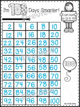 100's Day ~ Skip Counting to 100 by 2s, 5s, and 10s ~ BONUS