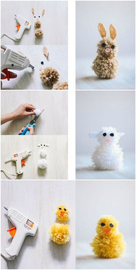 Photo of Basteln mit Wolle zu Ostern: Niedliche Pompom-Tiere für Kinder – Ostern