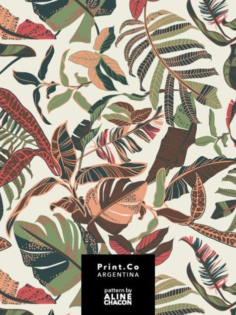 Tropical textile pattern for PrintCo Argentina, summer