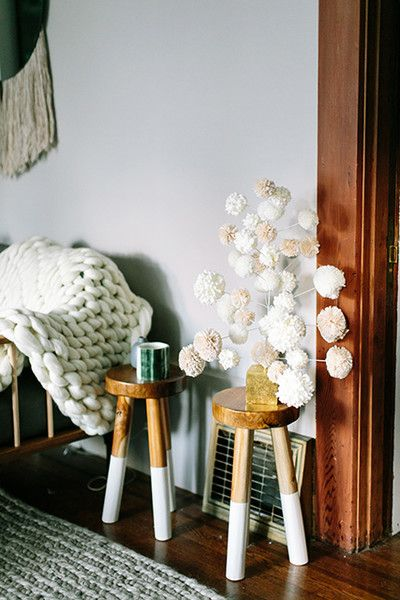 Pom-Pom Pretty  - How Lonny Editors Decorate Their Homes For The Holidays - Photos