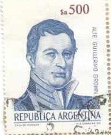Guillermo Brown 1777 1857 Sellos Estampilla Postal Estampillas De Correo