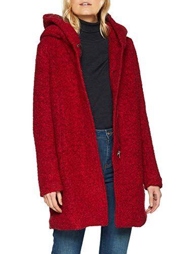 Damen Mantel Onlsedona Boucle Wool Coat Otw Noos Rote Jacke Jacken Damen Damen