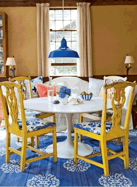 Dining Room Shabby Chic Narrow Dining Table With Big Flower