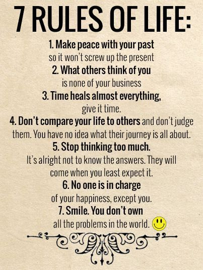 7 Rules Of Life In 2020 Wisdom Quotes Inspiring Quotes About Life Life Quotes