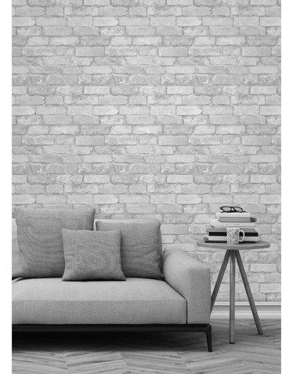 New White Brick Wallpaper Living Room Kitchens 41 Ideas Brick Effect Wallpaper Brick Wallpaper Bedroom Brick Wallpaper Living Room
