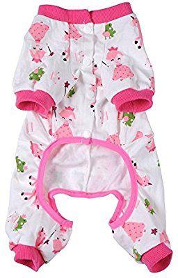 Amazon.com : Pet Dog Clothes Pajamas Coat Jumpsuit, 3color 4 sizes : Pet Supplies
