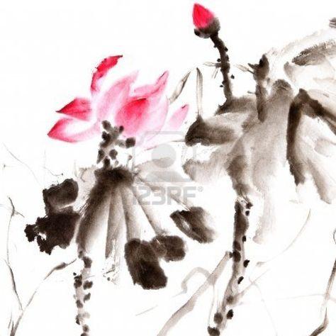 Google Image Result for http://us.123rf.com/400wm/400/400/elwynn/elwynn1103/elwynn110300291/9113925-lotus-chinese-traditional-ink-painting-artwork-with-color.jpg