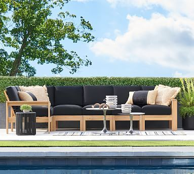 Build Your Own Malibu Teak Sectional Components In 2020 Backyard Furniture Best Outdoor Furniture Teak Patio Furniture