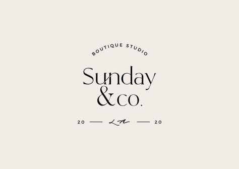 Premade Custom Logo Design / Modern Premade Logo / Boutique Shop Logo / Clothing Store Logo / Branding Package / Text Only Logo