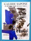 CLAVÉ Antoni Affiche originale 86 Abstrait Basque Espagne Cataluna Sapone Nice #Antiquités