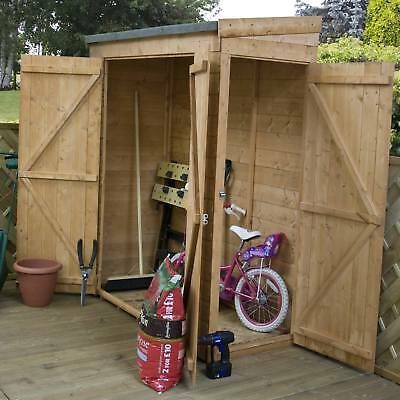 6ft X 2 6 Pent Roof Log Tool Storage Shed Outside Garden Store Double Door 6x3 3 Garden Storage Garden Storage Shed Storage Shed