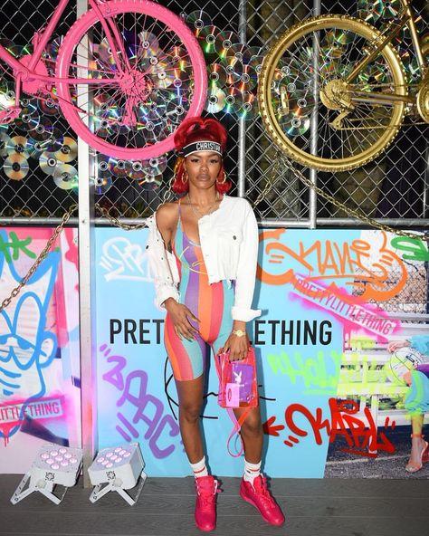 ICONIC 🔥🔥 @teyanataylor lookin' FIERCE💥 at the PrettyLittleThing x @karlkani launch party 😍