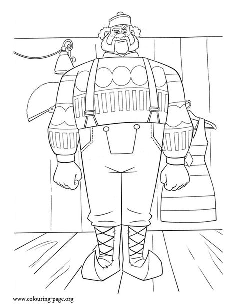 Oaken is a very large man. How about to print and color this ...