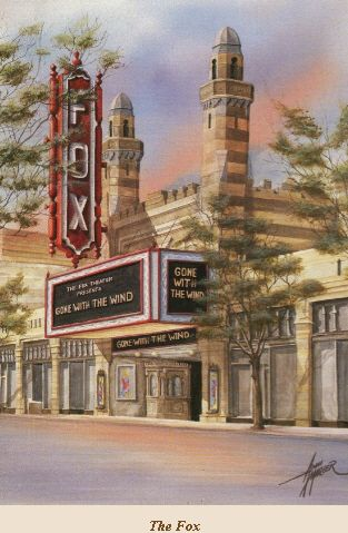Anni Moller Prints & Original Paintings - Fox Theater - Gone With The Wind
