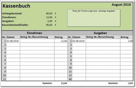 Excel Vorlage Kassenbuch Vorlage Kassenbuch Kassenbuch Excel Vorlage