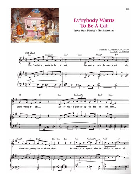 Everybody Wants To Be A Cat The Aristocats Disney Song