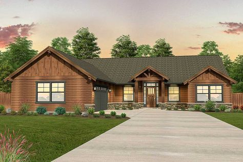 Plan 85218MS: Mountain Ranch Home Plan | Architectural design ...