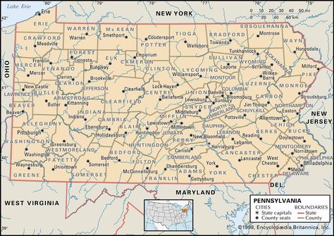 Interactive, changing map of Pennsylvania counties ...