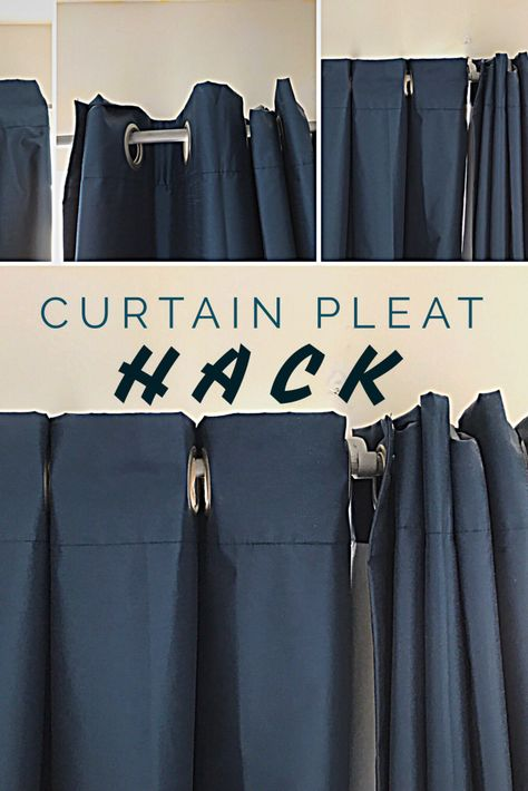 This super easy curtain pleat hack will transform how your curtains hang and look in any room in your house. This super easy curtain pleat hack will transform how your curtains hang and look in any room in your house. No Sew Curtains, Hanging Curtains, How To Hang Curtains, Yellow Curtains, Wall Of Curtains, Sliding Door Curtains, Drop Cloth Curtains, Yellow Walls, Blackout Curtains