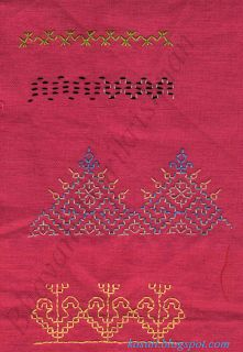 Kasuti embroidery sampler
